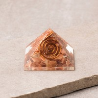 Golden Quartz Orgone Mini Pyramid