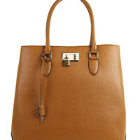 London Fog Cognac Darby Tote | zulily