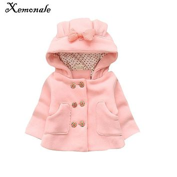 Xemonale New Winter Children baby girl Warm Outerwear Clothing Cartoon Jacket Coat Baby Kids White parkas And hoodies Clothes