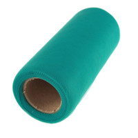 Premium Tulle Spool Roll, 6-inch, 25-yard, Teal