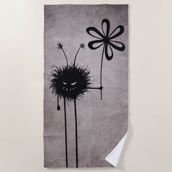 Evil Flower Bug Vintage Beach Towel