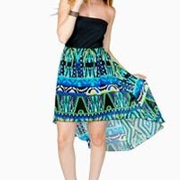 Bustier Tribal Brights Hi Lo Dress