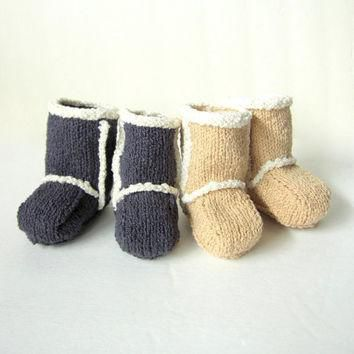 Hand Knit Baby Booties - Ugg Inspired Made to Order