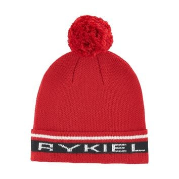 Sonia Rykiel Red Logo Hat with PomPom (unisex)