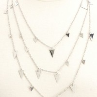 LONG LAYERED TRIANGLES NECKLACE