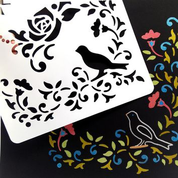 Bird And Butterfly Plastic Embossing Folder For Scrapbook Album Card 31*21cm Stencil Template Decorative Stamps
