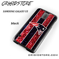 New England Patriots Nfl Logo Glitter For Samsung Galaxy S5 Case UY