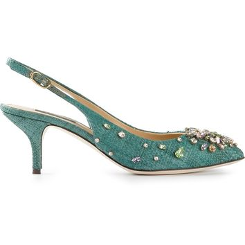 Dolce & Gabbana Jewel Sling Back Pumps