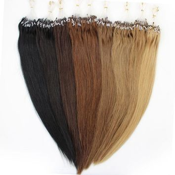 16-26inch 100s Easy Loop/Micro Ring Beads Human Hair Extensions Straight