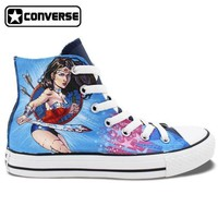 DCCK1IN wonder woman painted converse