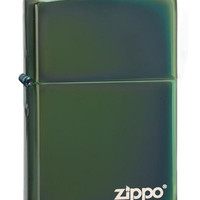 Zippo Chameleon Chrome Plated Logo Lighter