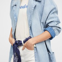 Free People Farewell Denim Duster