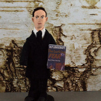 Horror Writer H.P. Lovecraft Doll Art Miniaure Author