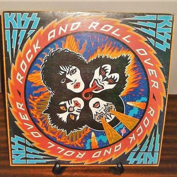 Vintage 1979 KISS Rock and Roll Over Vinyl Record Album LP in Great Condition / Hard Rock Album
