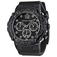 Michael Kors MK5510 Women's Black Ion Plated Crystals Black Dial Chronograph Watch