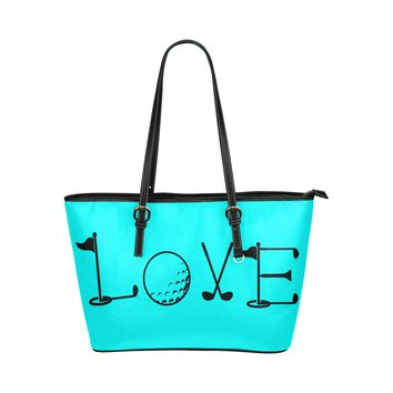 Tiffany Blue Golf Leather Tote