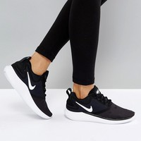 Nike Running Lunarsolo Trainers In Black And White at asos.com