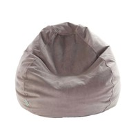 Small Classic Faux Suede Bean Bag - Steel