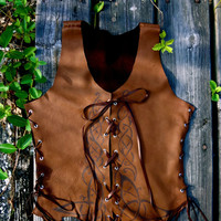 Celtic Deerskin Bodice by EireCrescent on Etsy