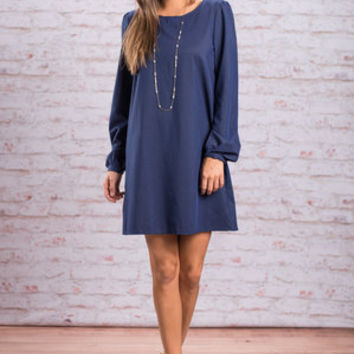 Hostess With The Mostess Dress, Indigo