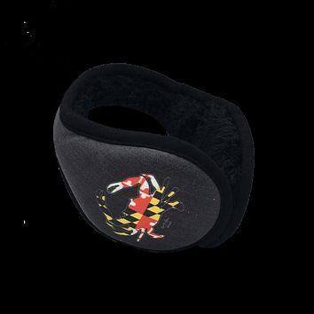 Maryland Full Flag Crab (Black) / Earmuffs