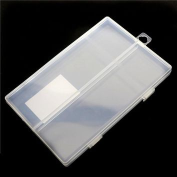 158 * 105 * 15mm Transparent Plastic Box Neutral Pencil Case Small Fresh Style Multifunctional Storage Box Student School Office