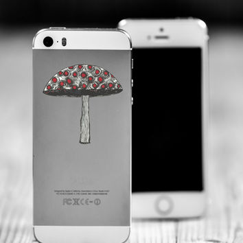 "Mushroom Die Cut Sticker // Trippy Psychedelic Decal // Cell Phone & Tablet Small Size // 2"" // Perfect For Indoor, Outdoor, Laptop, Car"
