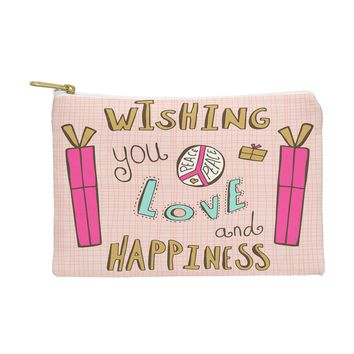 Heather Dutton Peace Love And Happiness Pouch