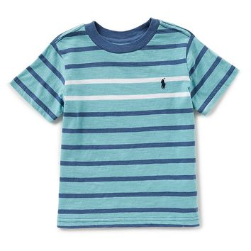 Ralph Lauren Childrenswear Little Boys 2T-7 Short-Sleeve Striped Tee | Dillards