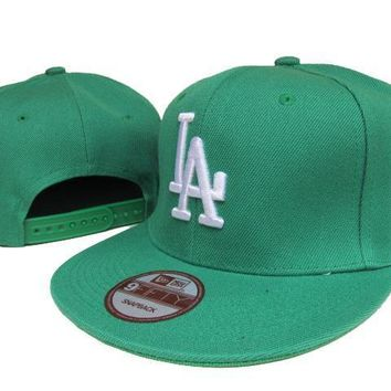 PEAPON Los Angeles Dodgers New Era MLB 9FIFTY Cap Green-White