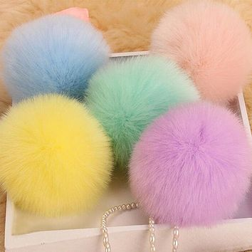 Fluffy Pompom Key Chain