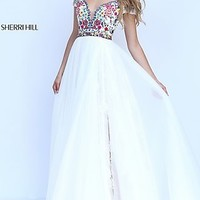 Cold Shoulder Sweetheart Long Prom Dress by Sherri Hill