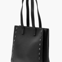 Structured Stud Tote Day Bag | Boohoo