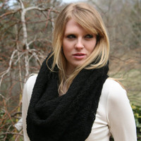 Black Onyx  Cowl Scarf  -  With Touch of Sparkle