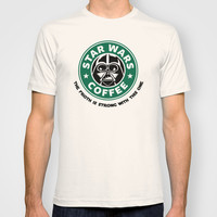 Star Wars Coffee T-shirt by Royal Bros Art