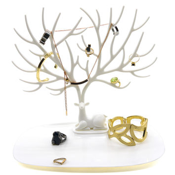 PuTwo Jewellery Stand Deer Shape Jewellery Organiser Jewellery Holder
