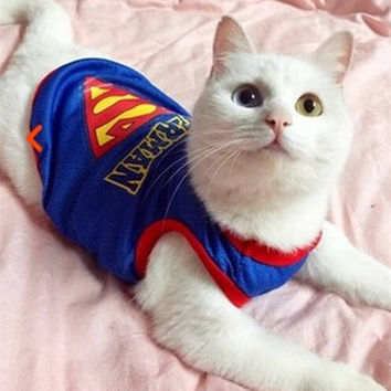 Superman Pet clothes  for Cats