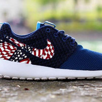 American Flag U.S.A. Merica on Midnight Navy Roshe Runs SMALL RESTOCK