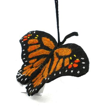 Monarch Butterfly Fair Trade Felt Tree Ornament