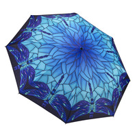 Stained Glass Dragonfly Folding Umbrella By Galleria