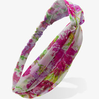 Knotted Floral Headwrap