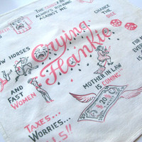 Vintage Novelty Handkerchief, Crying Hankie, Gag Gift For Him