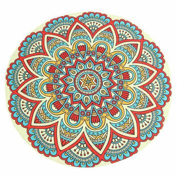 DCCKJG2 Round Mandala Tapestry Towel Yoga Mat New Fashion Indian Wall Hanging Throw Decor Sun Bath Shawl Tablecloth Home Decor