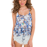 Madeline Floral Top - Blue