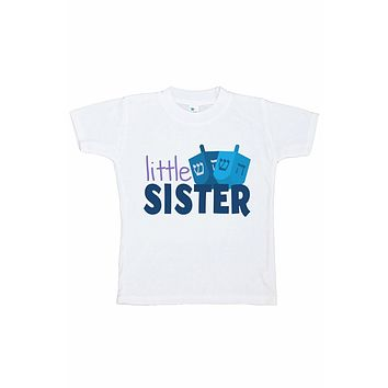 7 ate 9 Apparel Kids Little Sister Hanukkah T-shirt