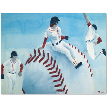 Red Sox - Placemat of Baseball Poster Paint Fine Art
