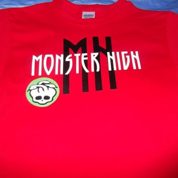 Personalized Monster High inspired T Shirt