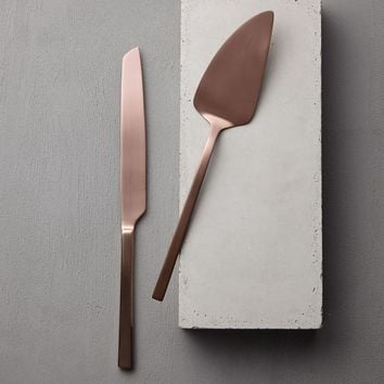 Gold Cake + Knife Set