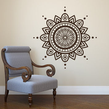 Mandala Wall Decal Yoga Studio Vinyl Sticker Decals Ornament Moroccan Pattern Namaste Lotus Flower Home Decor Boho Bohemian Bedroom Art  T99