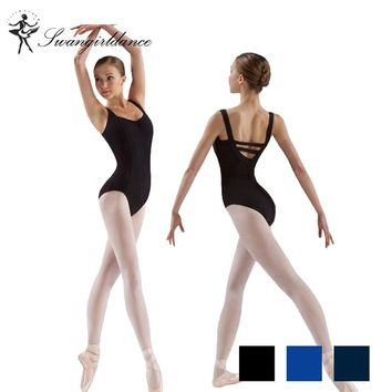 free adult tank black ballet Leotard for dance costumes girls ballet clothes for women gymnastics leotards CS0109